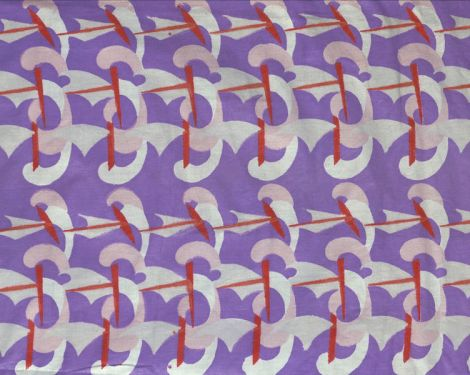 'Ships;Boats' by Eileen Hunter Fabrics, 1930s, held at V&A archive, gifted by the designer.