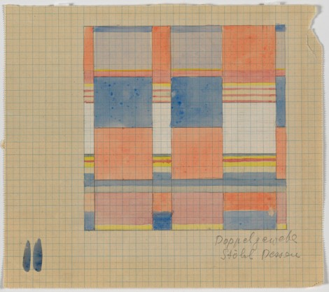 Doppelgewebe (design for a double weave textile), Gunta Stolzl, 1931