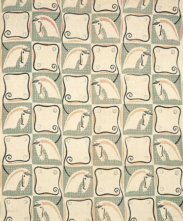 Textile design from Lucienne Day's diploma show at Royal College of Art, 1930s