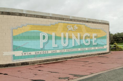 Take The Plunge, site specific painting by Kate Drummond and Shane Johnstone