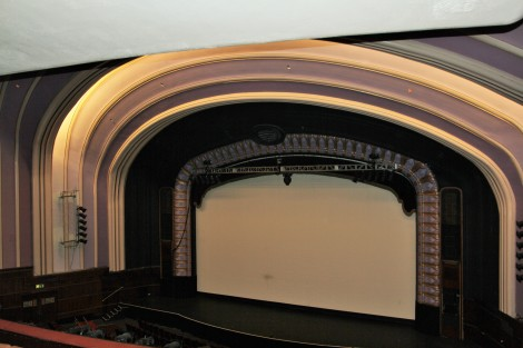 View of Opera House stage from Circle area of theatre.
