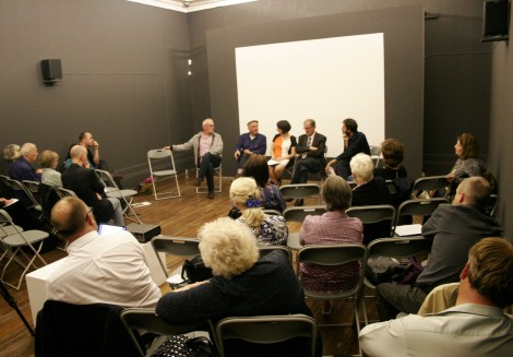 Discussion panel (left to right) Professor Fred Gray, Stephen Marland, Jenny Steele, Ted Lightbown and Richard Parry